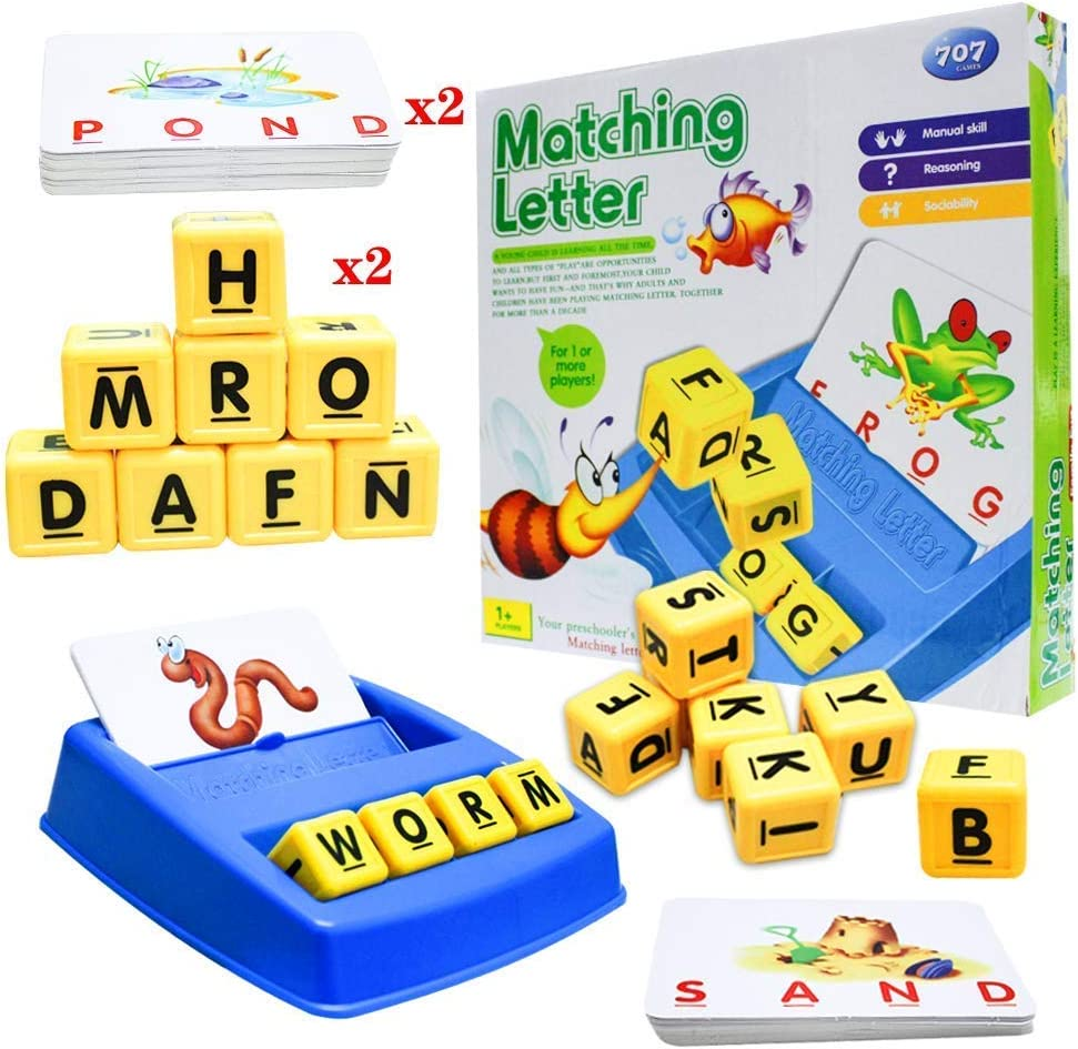 Matching Letter Games Max 85% OFF Toys for Year Olds Dev Spelling 3-8 gift