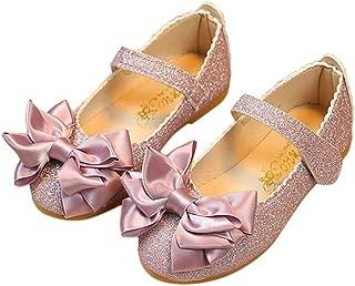 Hopscotch Girls PU Glittery Mary Jane with Satin Bow - Purple