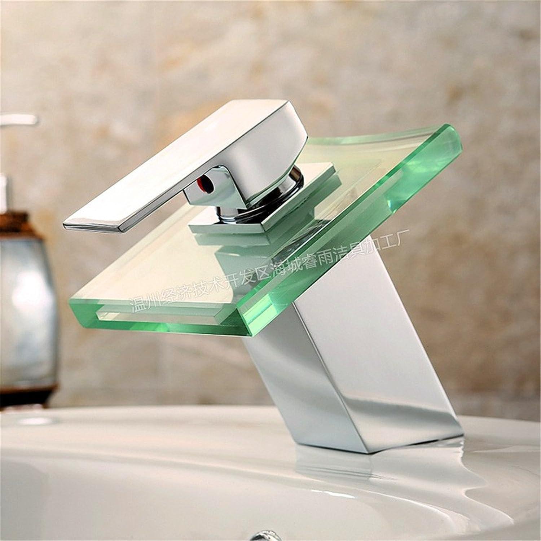 Lvsede Bad Wasserhahn Design Küchenarmatur Niederdruck Led Einfachen Heien Und Kalten Wasserfall Mit Lichthahn L6915