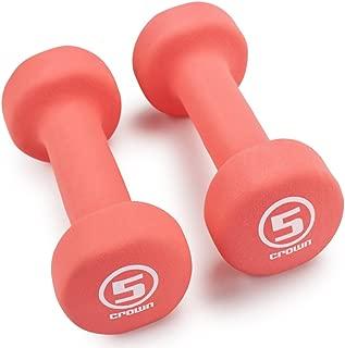 Crown Sporting Goods Neoprene Body Sculpting Hand Weights (1-Pair)