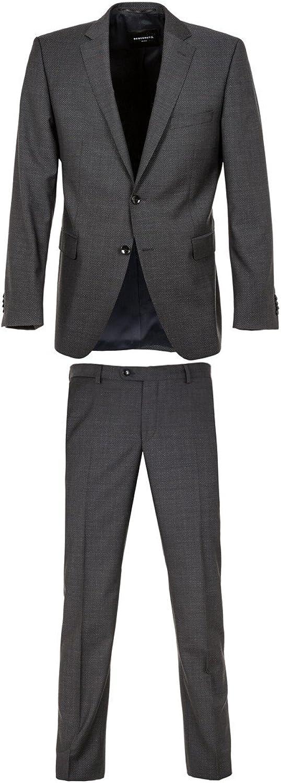 Benvenuto schwarz - Modern Fit Fit Fit - Herren Anzug aus Super 100'S Schurwolle (Artikel  20807) B072Q5Q53G  Geeignet für Farbe 37001b