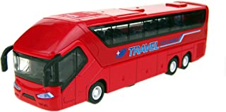 Kylin Express Alloyed Mini Travel Bus Car Model with Light and Sound, Red