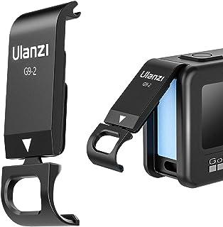 ULANZI G9 2 Batteriefachdeckel Abnehmbarer Ladeanschluss Adapter Aluminium für GoPro Hero Schwarz 9
