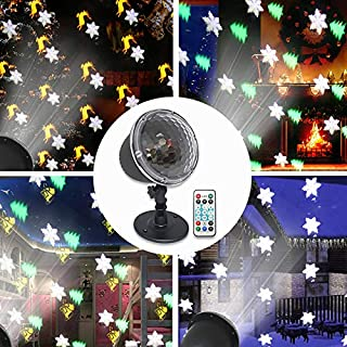 Halloween Christmas Projector Lights, Weepong IP65 Waterproof Indoor Outdoor Led Snowflake Light Projector with Remote Controlfor Xmas Tree Holiday Party Garden Wall Wedding Landscapedecorations