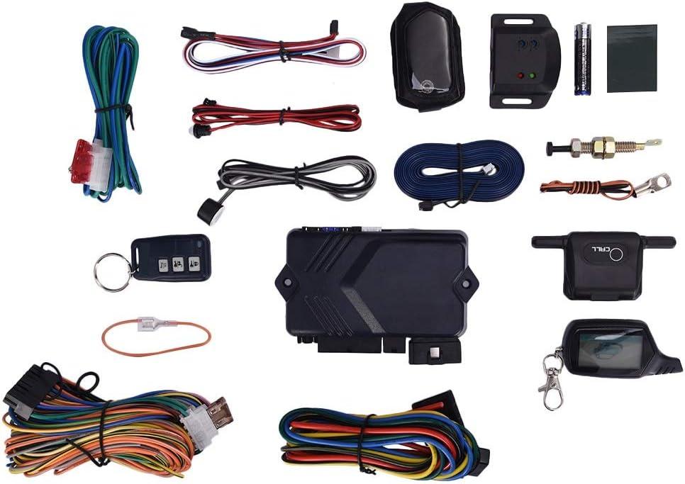YIWMHE B9 New Regular store item 12V 433MHz LCD Two-Way for R Burglar TYRESAFE Alarm