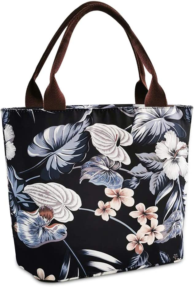 Floral Lunch Box overseas Tote Bag Limited price School Women Picnic for Reusable
