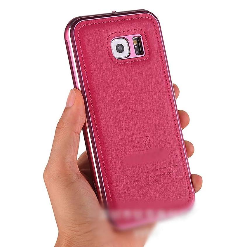 望む巨人鮫Tonglilili 電話ケース、高級レザーケースドロップメタル電話ケース新しい保護カバー電話ケースサムスン注4、注5、S5、S6 (Color : ピンク, Edition : Note4)