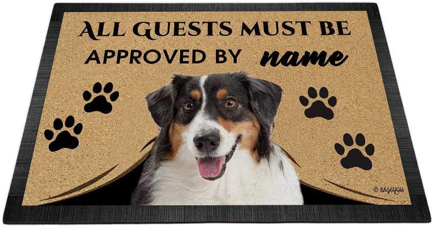 BAGEYOU All Guests Must be Approved Doormat Love Dog with Finally popular brand Attention brand My Aus