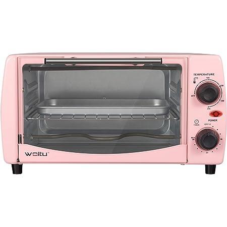 WOLTU BF10rs Mini Four à Pizza à Pain 12 litres,grillé Mini Four avec minuterie 100-250 ℃ 800W,Rose