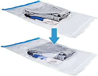SINGARE Airtight Space Saver Bags Travel Storage Bags for Clothes, No Vacuum or Air Pump Needed, Perfect Roll-Up Compression Bags for Travelling or Home, 12pcs(4/28x20