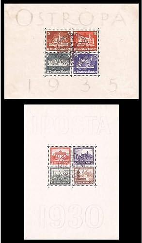 Goldhahn Set  Deutsches Reich Block 1+3 gestempelt Briefmarken für Sammler
