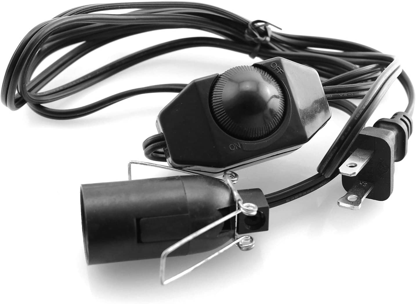 DGZZI Salt Lamp Cord 110V Black It is very popular 4.9ft Popular brand in the world Power Himalayan