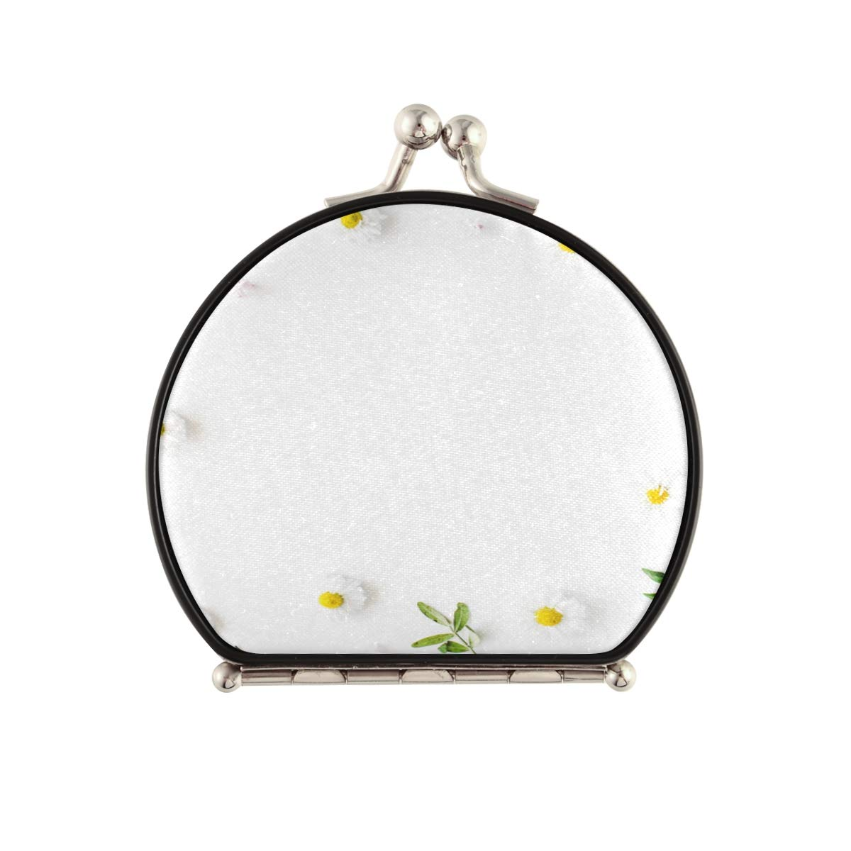 Magnifying Compact Special price for a limited time Cosmetic Popular brand in the world Mirror Frame Chamomiles Branches Lea