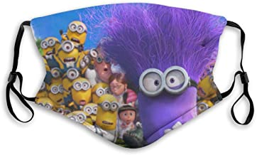 BJNHJS53 Minions Activated Carbon Filters Unisex Adjustable Washable and Reusable for Outdoors