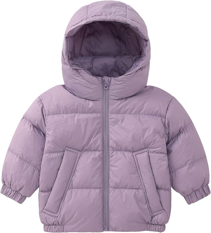pureborn Baby Toddler Boys Girls Down Jacket Hooded Fall Winter Warm Coat