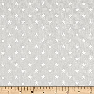 Premier Prints Mini Star Twill French Grey/White Fabric by The Yard