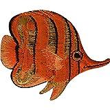Peces tropicales hierro parche para coser en ropa bordado Badge bordado Applique