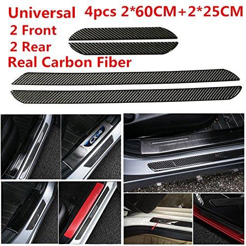 Preisvergleich Produktbild Universal 4 60 cm + 25 cm 100% echte Karbonfaser Front Hinten Auto Einstiegsleisten Cover Panel Schritt Displayschutzfolie