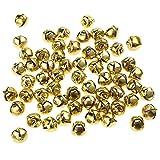 Homeford Mini Metal Jingle Bells, 3/8-Inch, 60-Piece (Gold)