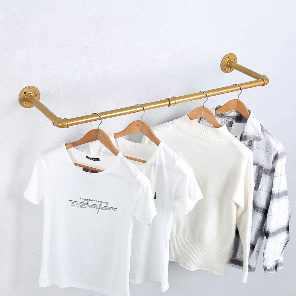 Industrial Pipe Clothes Rack Wall Vintage Excellence Max 72% OFF Mo Retail Mounted