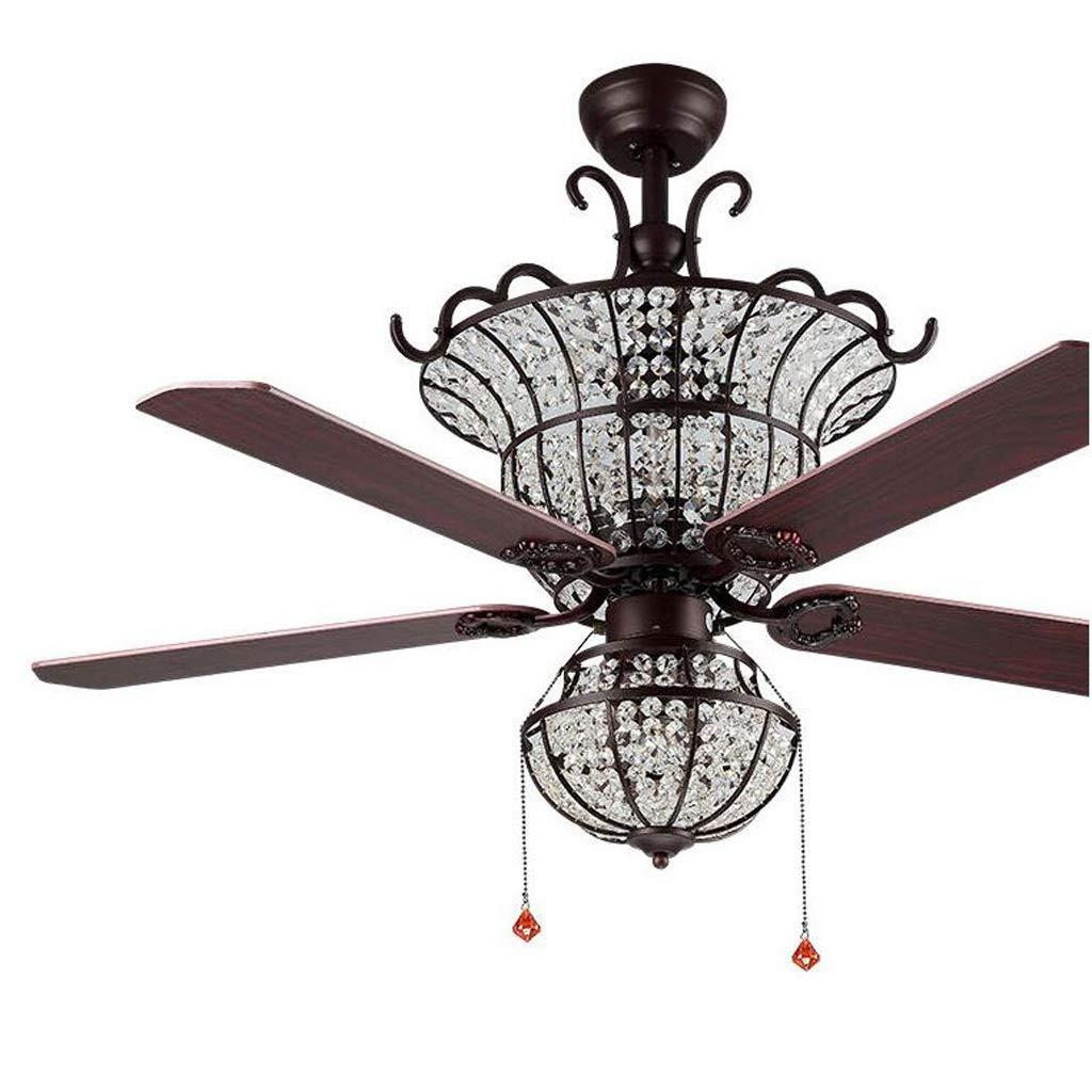 WangLei Luz de ventilador de techo de cristal, ventilador de techo ...
