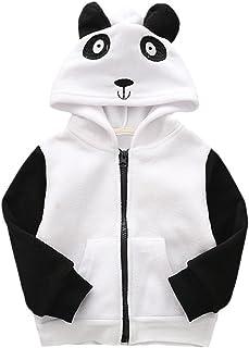 abe09ab6275d6 Bébé Garçon Filles Manteau À Capuche Tops Blouson Chaud Panda Dinosaure  Animal Dessin Animé Halloween Noël
