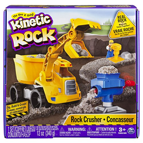 Kinetic Rock - Rock Crusher Toy Kit with Construction Tools, for Ages 3 and Up