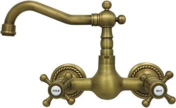Hochdruck Kreuzgriff Zweigriff Waschtisch Armatur Waschbecken Bad Retro Antik
