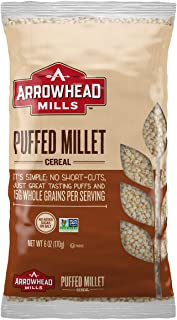 Arrowhead Mills Cereal, Puffed Millet, 6 oz. Bag (Pack of 12)