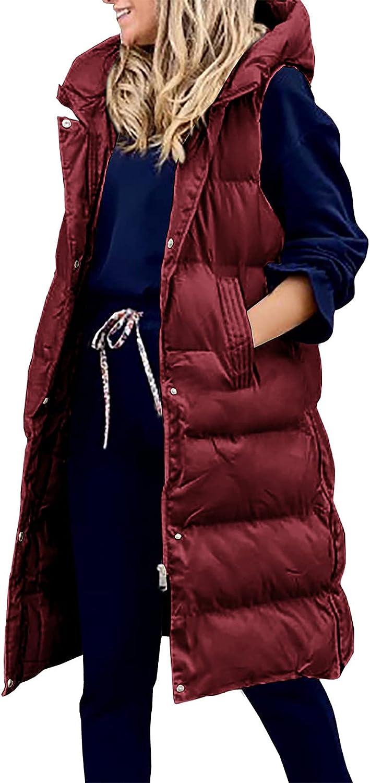 Vests for Women Hooded Sleeveless Down Jacket Fashion Vest Coat