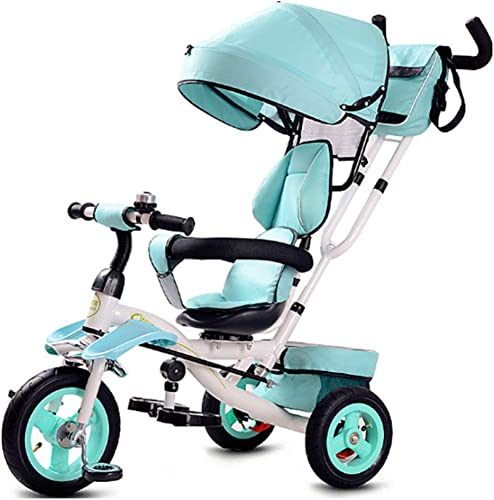 GIFT Folding Kinder Dreirad Liegend Baby fürrad 1-3 S lingskind Barrow Kinderwagen, Nicht Aufblasbare Elastische Gummirad, 1-6 Jahre,B