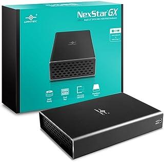 Vantec 2.5インチ SATA デュアル HDD/SSDケース USB 3.0 Micro-B 放熱性の高いアルミ製カバー USBポート:USB Micro-B to Type-A データ転送速度5Gbps 【ブラック】