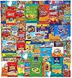 Blue Ribbon Snack Box (55 Count) Snacks Care Package Food Cookies Bar Chips Candy Ultimate Variety Gift Box Assortment Basket Bundle Mix Bulk Sampler College Students Military Women Men Adult Kids