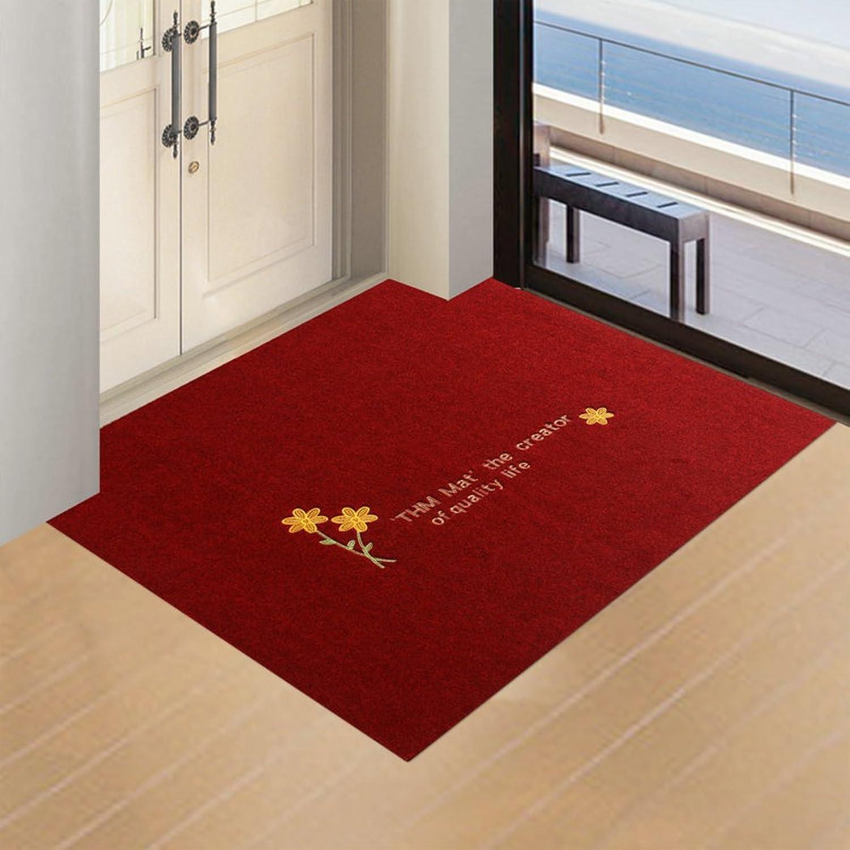 Doormats Water-Absorption Door mat Indoor mat for Bathroom Kitchen -E 100x160cm(39x63inch)