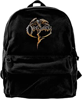Mochila de lona con logotipo de Obituario, mochila de gimnasio, senderismo, portátil, bolsa de hombro para hombres y mujeres