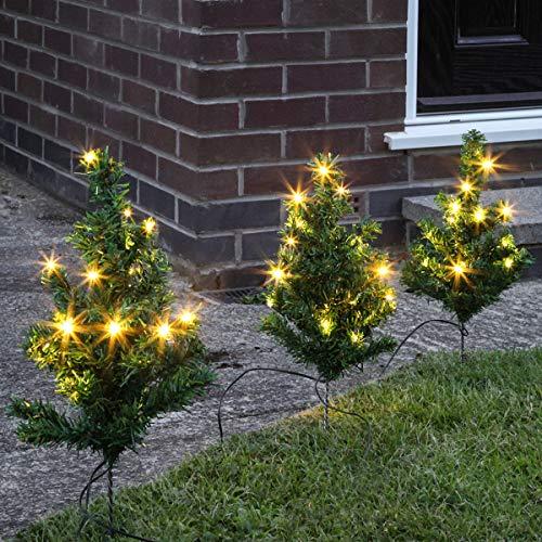Premier Pre-Lit Christmas Tree Pathway Lights, 6 Pack, Green
