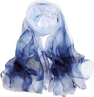 Foulard Femme Soie de Mûrier 100% Léger Écharpe Cadeau Silk Scarf