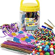 ENDLESS HOURS OF FUN - This giant plastic jar is packed full of all sorts of arts and crafts materials for your projects. JAR WITH HANDLE - The jar comes complete with a carry handle built into the lid, so you can even carry it around with you wherev...