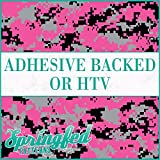 Digital CAMO Pattern in PINK, GREY & BLACK Urban Camouflage Heat Transfer or Adhesive Vinyl CHOOSE YOUR SIZE!