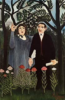 $50-$2000 Hand Painted by College Teachers - 24 Famous Rousseau Paintings - The Muse Inspiring The Poet 1909 1 Henri Rousseau - Art Oil Painting on Canvas -Size04