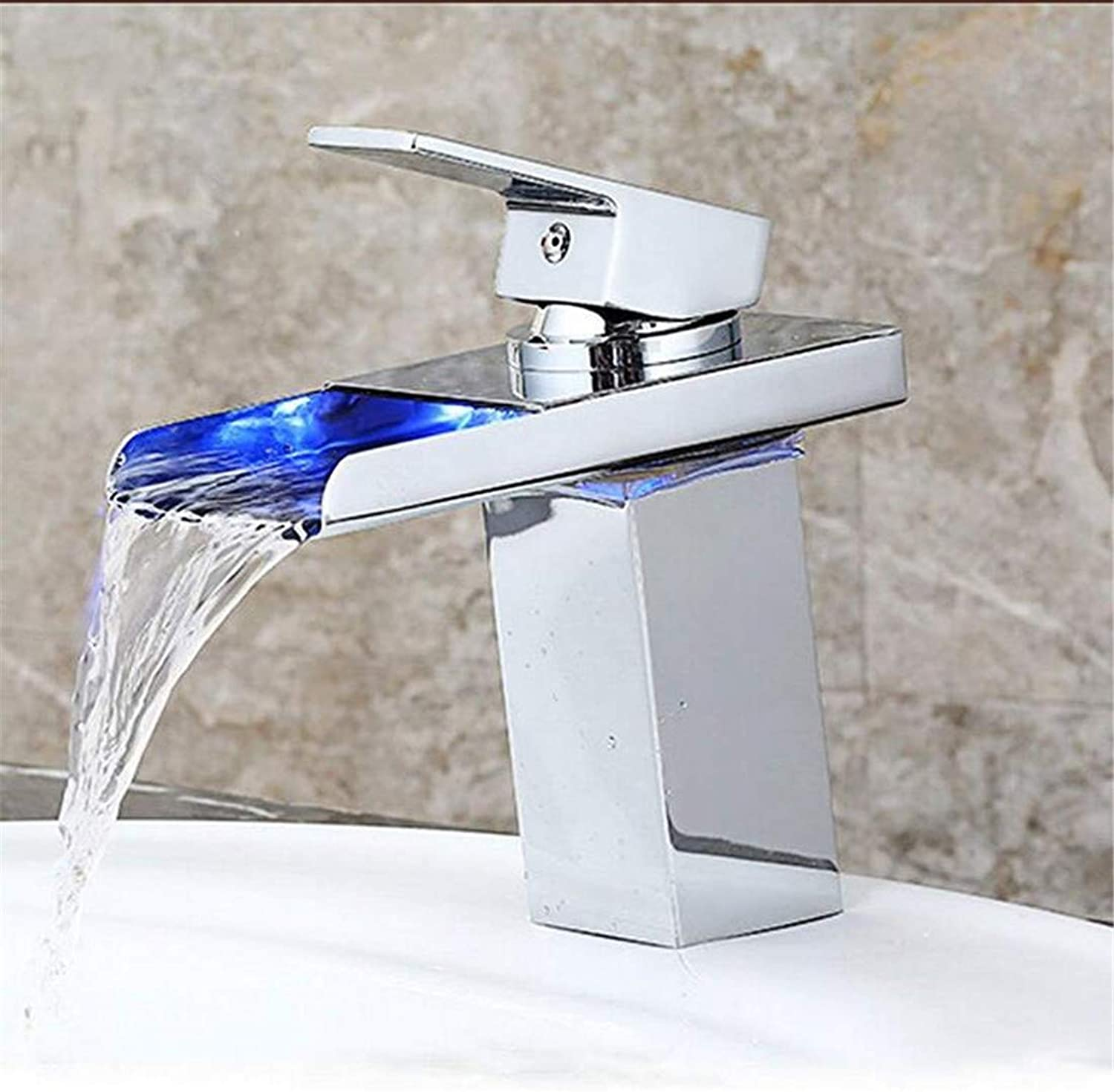 High Quality Plating Bathroom Basin Tap with Temperature Sensor Hydroelectric Power Waterfall Bathroom