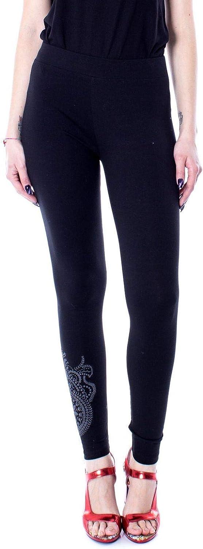 Desigual Women's 19SWKK03BLACK Black Cotton Leggings