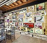 CQDSQN Papel pintado Celebridades retro europeas y americanas Pintura de la pared Auto-adhesivo PVC ...