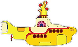 MFX Design Yellow Submarine Laptop Sticker Decal Bumper Sticker Decal Toolbox Sticker Decal Vinyl - Made in USA 4.5 in. x 2.5 in.