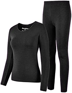 HEROBIKER Thermal Underwear Women Ultra-Soft Set Base Layer Top & Bottom Long Johns with Fleece Lined Winter