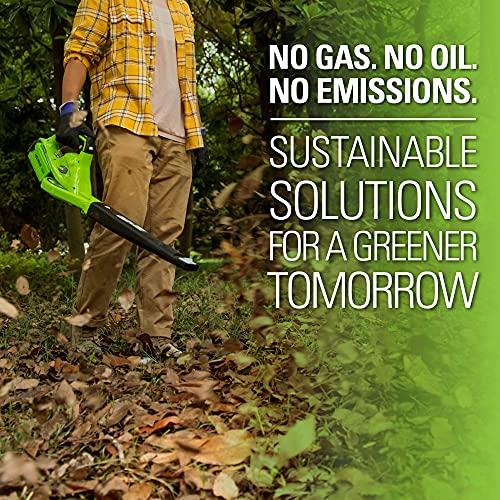 Greenworks 24252 40V 150 MPH Variable Speed Cordless Leaf Blower