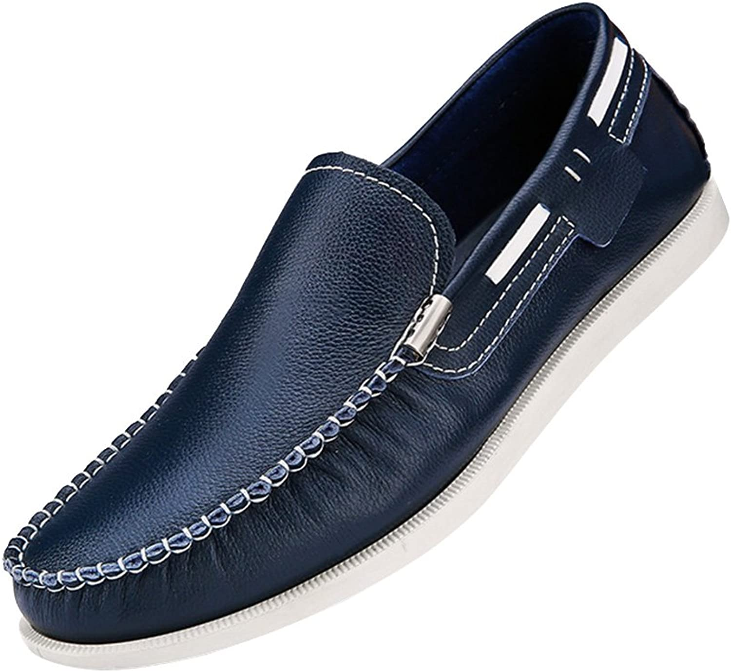 Snowman Snowman Snowman Lee herrar läder and Rubber Driver skor mode Casual Ruched Slip On Loafers  i stadionens kampanjer