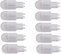 Dimbare G9 Bulb LED 3Watt 8 SMD 2835 3000K / 6000K New Technology Ceramic LED spaarlamp 10st WELSUN (Color : Warm White)