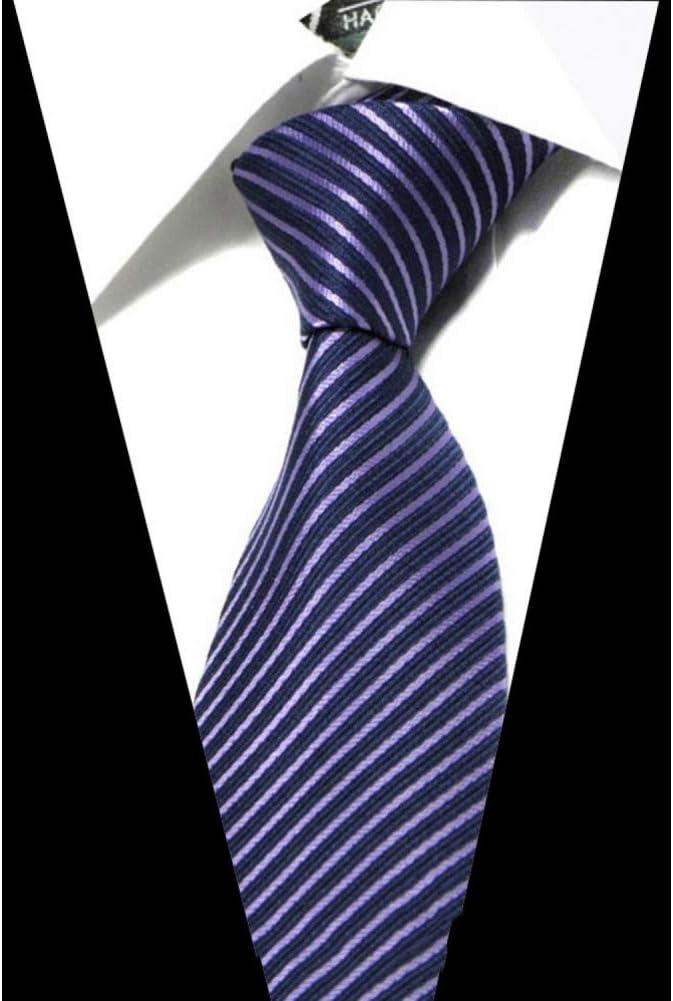 WOXHY Men's Ties Solid Color Stripe Flower Floral 8Cm Jacquard Necktie Accessories Daily Wear Cravat Wedding Party Gift