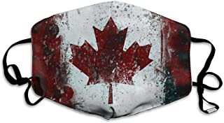 Face Mouth Masks Paint Mottled Canada Flag Reusable Motorcycle Anti Dust Flu Saw Mask Safety Air Fog Respirator for Man Woman White